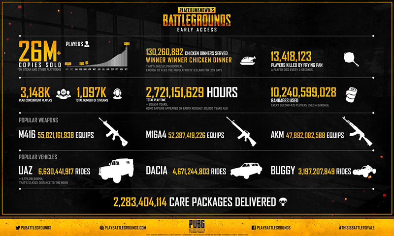 PUBG Early Access Stats