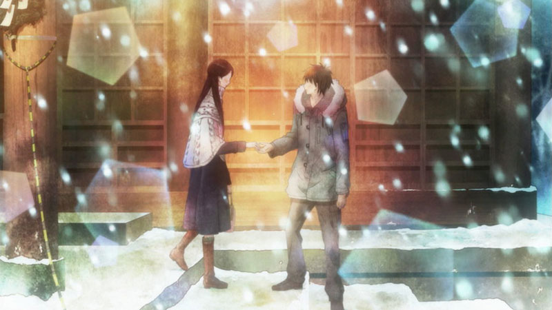 Sawako and Shouta on New Years
