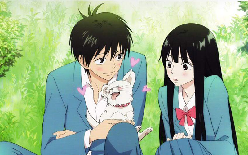 Shouta and Sawako with the puppy that he adopts