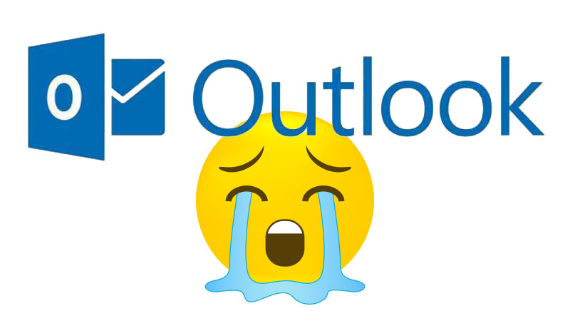 Outlook Logo - Crying Emoji