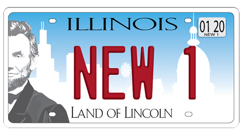 New Illinois License Plate Example