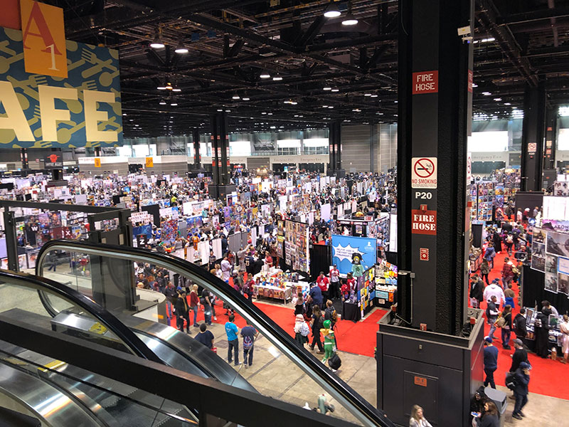 Vendor Hall view from a Cafe